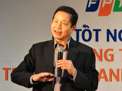 """Chủ tịch FPT Trương Gia Bình: Luật chơi mới đã xuất hiện: """"Cá nhanh ăn cá to"""". Ảnh: Bstyle"""