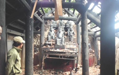 Vụ cháy lớn khiến ngôi chùa cổ 300 năm tuổi ở Hải Phòng bị thiệt hại nặng nề