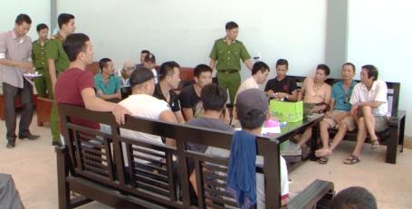 Nhóm đối tượng bị bắt giữ