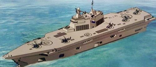 Bản vẽ phác thảo thiết kế tàu sân bay trực thăng Lavina