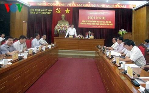 tin tức mới cập nhật hôm nay đề cập đến công bố kết quả kiểm tra phòng chống tham nhũng tại Vĩnh Phúc