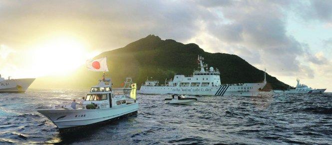 Tàu Nhật và Trung Quốc vờn nhau trên biển Hoa Đông