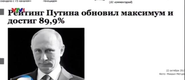 Tổng thống Vladimir Putin luôn nhận được sự ủng hộ của gần 90% người dân Nga