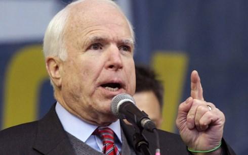 John McCain - một trong các nghị sĩ Mỹ quyết liệt nhất trong việc chống Trung Quốc bành trướng trên Biển Đông