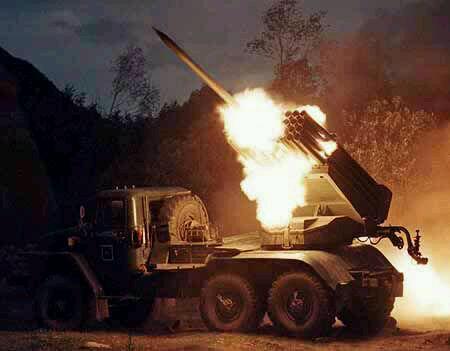 Triều Tiên từng dùng pháo đa nòng 122 ly nã đạn vào đảo Yeonpyeong của Hàn Quốc hồi tháng 11/2010 (