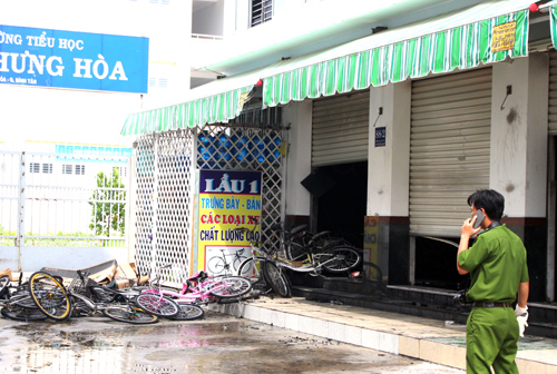 Hàng trăm xe đạp bị cháy, hư hỏng