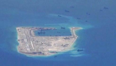 Đá Chữ Thập thuộc quần đảo Trường Sa ở Biển Đông