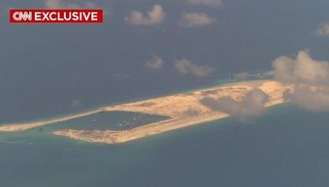 Đảo nhân tạo mà Trung Quốc xây dựng trái phép ở Biển Đông