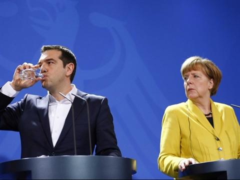 Thủ tướng Hy Lạp và Thủ tướng Đức tại Berlin ngày 23/3/2015