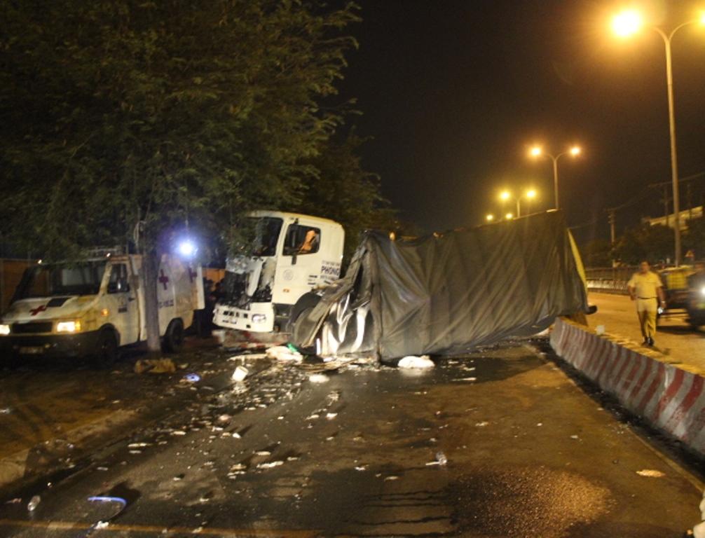 Hiện trường xảy ra vụ tai nạn, theo tin tức mới cập nhật