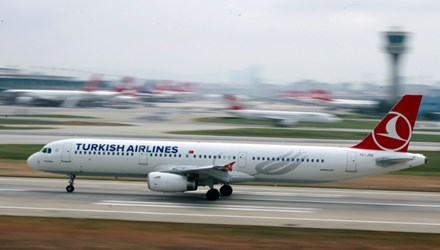 Một chiếc máy bay của hàng không Thổ Nhĩ Kỳ