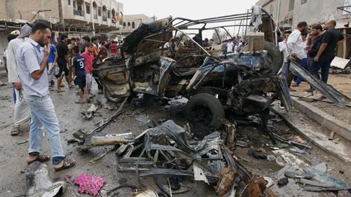 Tin tức mới cập nhật: Hiện trường một vụ đánh bom ở Iraq
