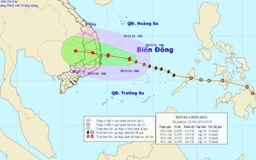 tin tức mới cập nhật ngày 29/11: Chiều nay, bão số 4 vào vùng biển Bình Định – Khánh Hòa
