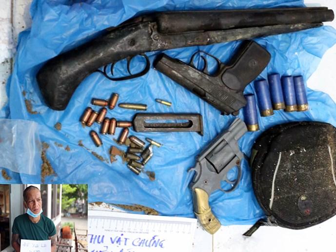 Thu giữ nhiều súng đạn 'khủng' trong nhà đầu nậu ma túy là một trong những tin pháp luật mới nhất hôm nay. Ảnh: