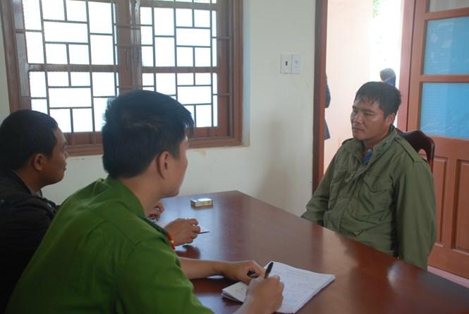 Nguyễn Văn Giáp tại cơ quan công an