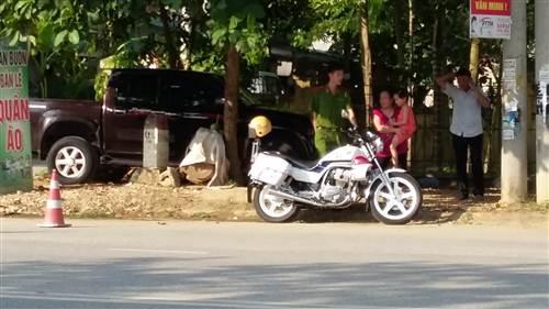 Hiện trường vụ việc khiến cho một chiến sĩ CSGT TP Tuyên Quang bị gãy chân, theo những tin tức pháp luật 24h qua