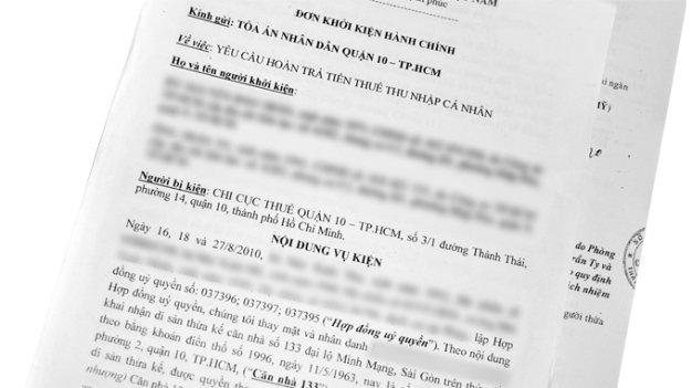 Chi cục thuế Q.10, TP.HCM phải hoàn trả tiền thuế là tin tức pháp luật mới nhất hôm nay