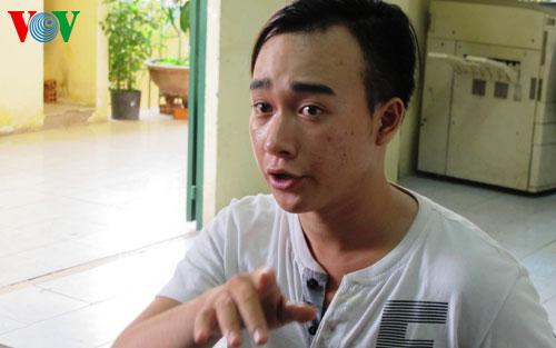 Đối tượng cầm đầu Vũ Minh Thành tại cơ quan điều tra