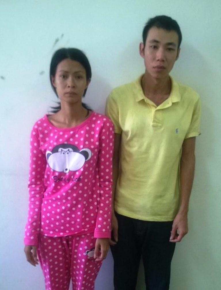 2 vợ chồng Chung Lương Hoàng Mi và Trần Huy Hào lúc bị bắt