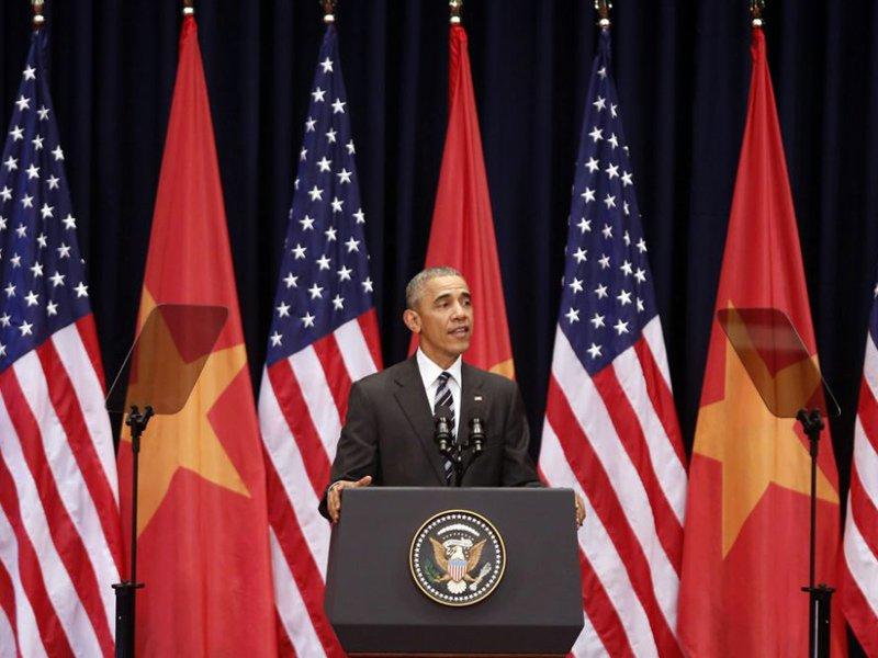"""Trong những tin tức thời sự 24h hôm nay có việc Tổng thống Obama đã đọc thơ """"Thần"""" của Lý Thường Kiệt"""