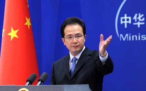 Phát ngôn viên Bộ Ngoại giao Trung Quốc Hồng Lỗi tỏ ý quan ngại về thông tin Mỹ điều động máy bay B-1 tới gần Biển Đông