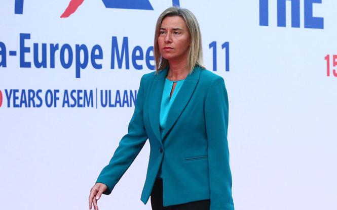 Đại diện phụ trách chính sách đối ngoại của EU Federica Mogherini kêu gọi giải quyết vấn đề Biển Đông bằng biện pháp hòa bình