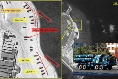 Trung Quốc triển khai tên lửa đất đối không trên đảo Phú Lâm thuộc quần đảo Hoàng Sa của Biển Đông Việt Nam