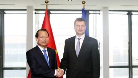 Phó Chủ tịch Ủy ban châu Âu (EC) Valdis Dombrovski chia sẻ những quan ngại về tình hình Biển Đông hiện nay