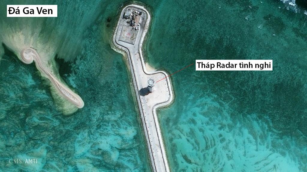 Bên cạnh Châu Viên, Trung Quốc cũng tiến hành các hoạt động xây dựng trên các thực thể chiếm đóng trái phép khác ở Biển Đông