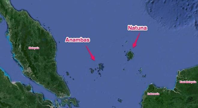 Quần đảo Natuna ở phía Nam Biển Đông, giữa bán đảo Mã Lai và đảo Borneo