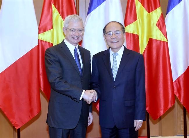Chủ tịch Quốc hội Pháp bày tỏ sự ủng hộ với quan điểm của Việt Nam về tình hình Biển Đông hiện nay