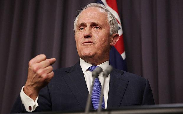 Thủ tướng Australia Malcolm Turnbull chỉ trích Trung Quốc quân sự hóa Biển Đông khi nói về tình hình Biển Đông hiện nay