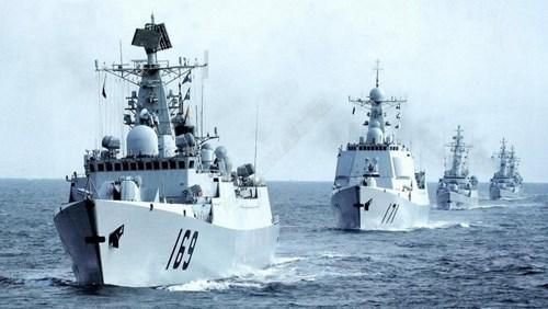 Hạm đội Nam Hải Trung Quốc thường xuyên giễu võ dương oai trên Biển Đông