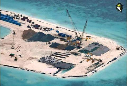 Trung Quốc tăng cường xây đảo nhân tạo nhằm thay đổi hiện trạng trái phép trên biển Đông
