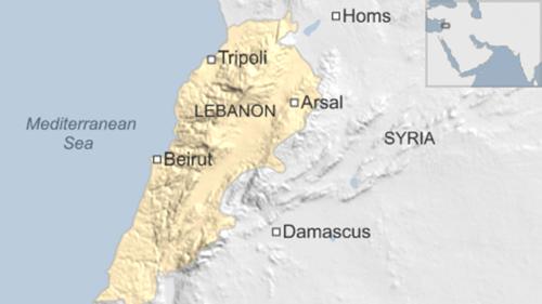 Vị trí Arsal, Lebanon
