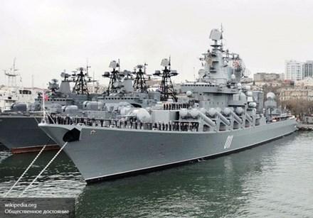 Tuần dương hạm tên lửa Varyag thuộc Hạm đội Thái Bình Dương của Nga