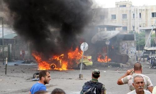 Hiện trường một vụ đánh bom ở Syria, theo tình hình chiến sự Syria mới cập nhật