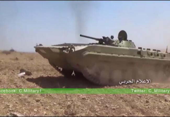 Xe bô binh chiến đấu BMP quân đội Syria trên chiến trường Đông Hama, theo tình hình chiến sự Syria mới nhất