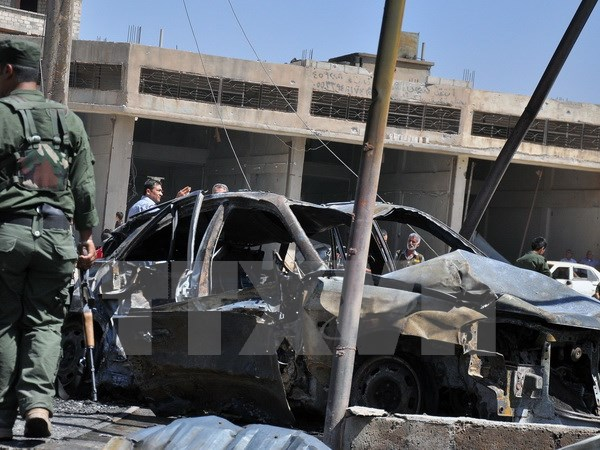 Hiện trường vụ đánh bom gần một trong những vị trí của Các đơn vị bảo vệ nhân dân người Kurk, theo tình hình chiến sự Syria mới nhất