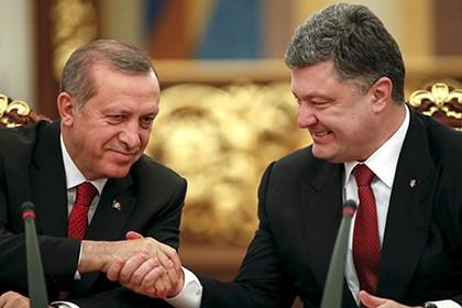 Tổng thống Thổ Nhĩ Kỳ Recep Tayyip Erdogan và Tổng thống Ukraine Poroshenko