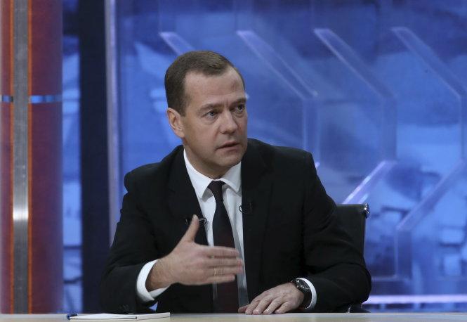 Tình hình Ukraine mới nhất cho biết Thủ tướng Nga Dmitry Medvedev khẳng định phải bảo vệ thị trường Nga