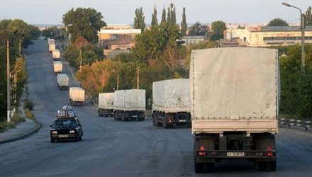 Tình hình Ukraine mới nhất cho biết đoàn xe nhân đạo thứ 39 của Nga tới miền Đông Ukraine
