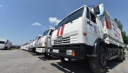Tình hình Ukraine mới nhất cho biết Nga gửi đoàn xe viện trợ thứ 50 tới Ukraine