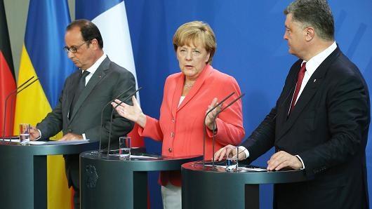 Lãnh đạo các nước Pháp, Đức và Ukraine trong cuộc thảo luận
