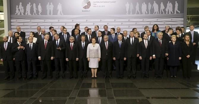 Các nguyên thủ tại Hội nghị thượng đỉnh phía Đông ở Riga, 22/05/2015