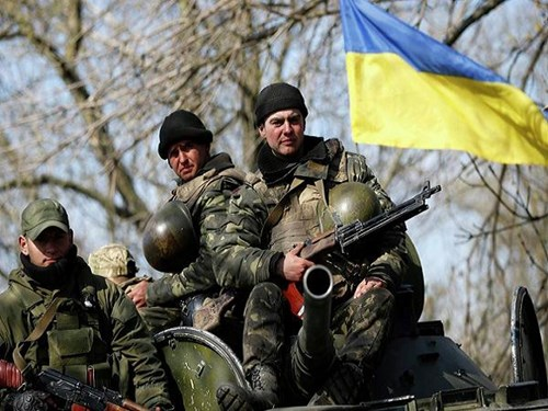 Binh lính Ukraine triển khai tại khu vực Donbass