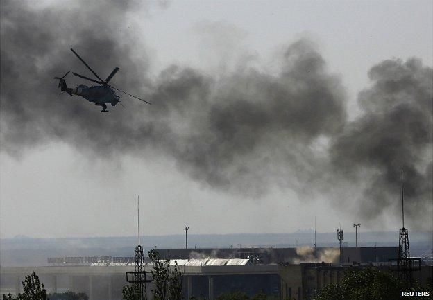 Sân bay Donetsk là một trong những trung tâm chiến sự chính ở miền đông Ukraine