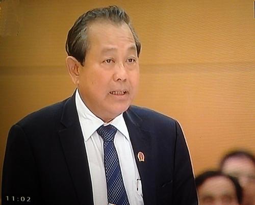 Chánh án TANDTC Trương Hòa Bình trả lời chất vấn ngày 13/3
