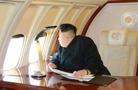Kim Jong-un trong chuyến thị sát Bình Nhưỡng