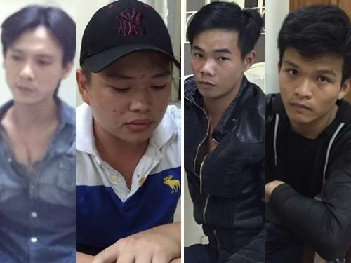 Các đối tượng bị bắt giữ tại cơ quan công an